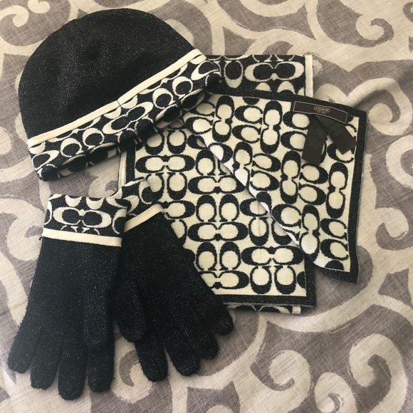 78182e7ab Coach Accessories | Scarf Beanie And Kitten Set | Poshmark
